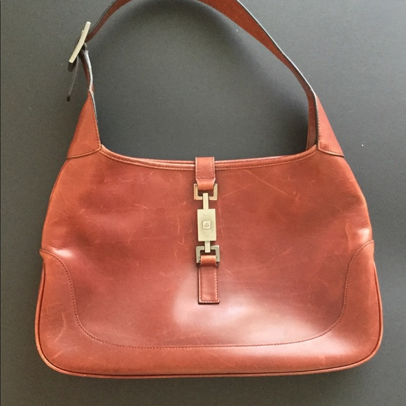 fdb354da32b2a ♥️SOLD♥️GUCCI Vintage Brown Jackie O Shoulder Bag